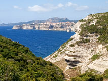 White cliffs of Bonifacio Stock Images