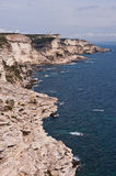 White cliffs of Bonifacio, Corsica Stock Photography