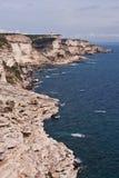 White cliffs of Bonifacio, Corsica. Beautiful white limestone cliffs of Bonifacio, Corsica Stock Photography