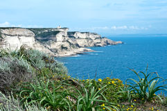 White cliffs of Bonifacio, Corsica Royalty Free Stock Photo