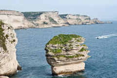 White cliffs of Bonifacio, Corsica Stock Photo