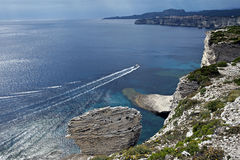 The white cliffs of Bonifacio in Corsica Stock Photo