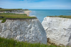 White cliffs. White chalk cliffs of Botany Bay, Broadstairs, Kent, the UK Stock Photo