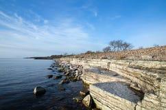 White Cliffs at the coast Royalty Free Stock Photo