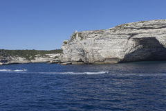 White cliffs , Corsica, France. Stock Images