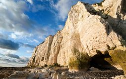 White Cliffs of Dover. Sunrise on the white cliffs of dover Stock Photo