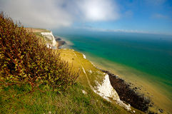 White Cliffs of Dover. A picture of the White Cliffs of Dover, in the UK Stock Image