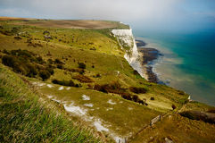 White Cliffs of Dover. A picture of the White Cliffs of Dover, in the UK Stock Photography