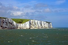 The White Cliffs Of Dover. A sea view of the White Cliffs Of Dover Royalty Free Stock Photography