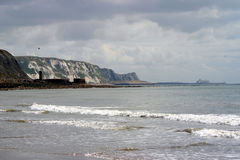 White cliffs of Dover. In Kent Stock Image