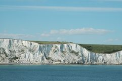 White Cliffs of Dover. English coast seen from the ferry Royalty Free Stock Images