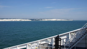 White cliffs of Dover from a ferry Stock Images