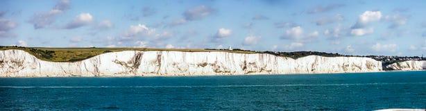 White Cliffs of Dover leaving England stock photos