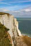 White cliffs  of dover. A landscape shot of the white cliffs of Dover, in England Royalty Free Stock Images