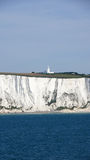White cliffs of dover and lighthouse Royalty Free Stock Photography