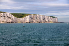 White Cliffs of Dover from Sea. A picture of the White Cliffs of Dover, in the UK viewed from the sea Royalty Free Stock Photo