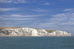 The white cliffs of dover from the sea Stock Image