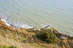 White cliffs of Dover by the sea. View on the White Cliffs of Dover and sea, United Kingdom Royalty Free Stock Photography
