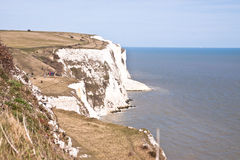 White cliffs of Dover. Seven Sisters White Cliffs South East England, Dover Royalty Free Stock Images