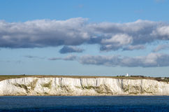 White Cliffs of Dover and South Foreland lighthous Stock Image