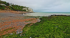 White Cliffs of Dover at St Margarets at Cliffe along Dover Straits Royalty Free Stock Photo