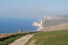 White cliffs in England Royalty Free Stock Photos