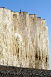 White Cliffs in England. Beautiful white cliffs along coast of England Royalty Free Stock Photos