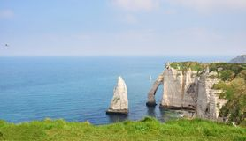 WHITE CLIFFS, ETRETAT, FRANCE Stock Images