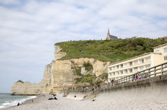 White cliffs of Etretat. France Royalty Free Stock Photo