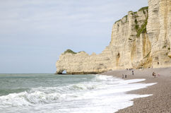 White cliffs of Etretat. France Royalty Free Stock Photography