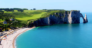 White cliffs of Etretat Royalty Free Stock Image
