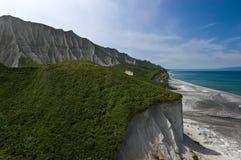 White Cliffs Iturup. Royalty Free Stock Image