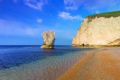 White cliffs on the Jurassic Coast of Dorset Royalty Free Stock Photo