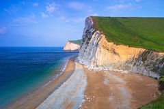 White cliffs on the Jurassic Coast of Dorset Royalty Free Stock Photos
