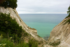 The White Cliffs of Moen in Denmark Stock Images