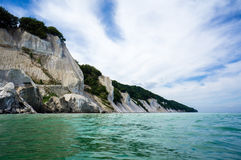 White cliffs of Mon Stock Photo