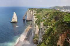 WHITE CLIFFS, ETRETAT, FRANCE Stock Image