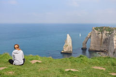 WHITE CLIFFS, ETRETAT, FRANCE Royalty Free Stock Images