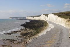 White Cliffs near Eastbourne. UK Stock Images