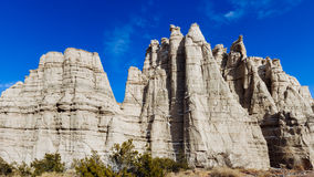 White Cliffs of Northern New Mexico. White limstone cliffs outside of Abiquiu, New Mexico, that once inspired Georgia O'keeffe stock photography
