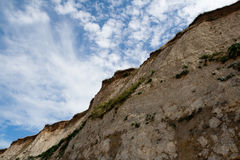 White cliffs on sea shore Stock Images