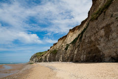 White cliffs on sea shore Royalty Free Stock Photography