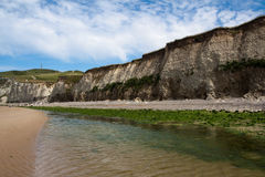 White cliffs on sea shore Royalty Free Stock Images