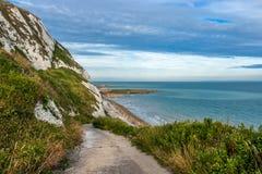 White cliffs. Seaside, beautiful seascape Stock Image