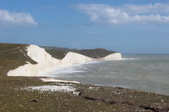 White cliffs at Seven Sister Royalty Free Stock Photography