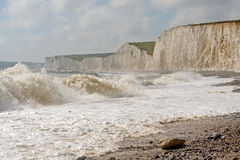 The White Cliffs of the Seven Sisters Stock Photos