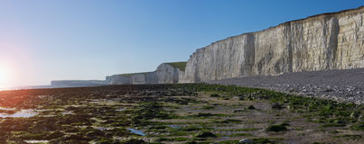 White cliffs of Seven Sisters National park. Royalty Free Stock Photography