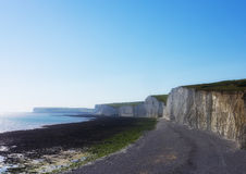 White cliffs of Seven Sisters National park. Stock Photography