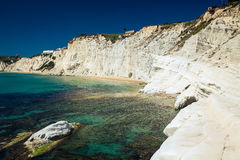 White cliffs of smooth pug at Scala dei Turchi Royalty Free Stock Image