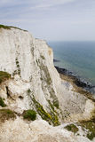 White cliffs south coast of Britain, Dover, famous place for archaeological discoveries and tourists destination Royalty Free Stock Images